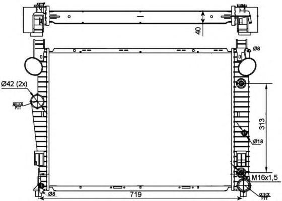 53103 Радиатор W220 4.3/5.0 АКПП 98-04/99