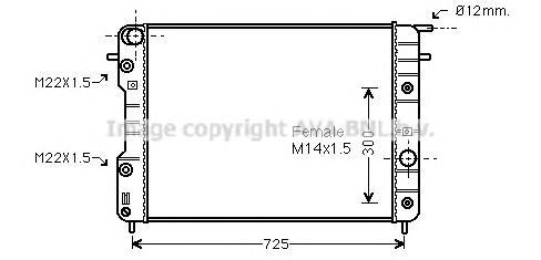 OLA2202 Радиатор OPEL OMEGA B 2.0-3.0 94-01