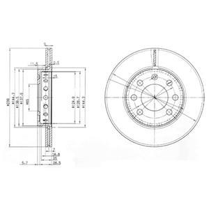 BG3658 Тормозной диск 2шт в упаковке