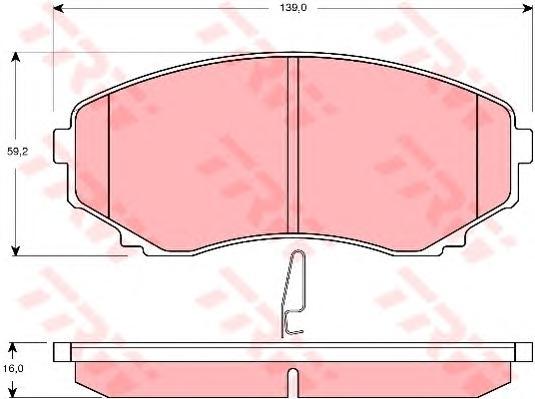 GDB3255 Колодки тормозные MAZDA MPV 99- передние с инд.износа
