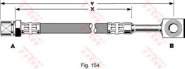 PHD288 Шланг тормозной CHEVROLET LANOS/OPEL CORSA B передний
