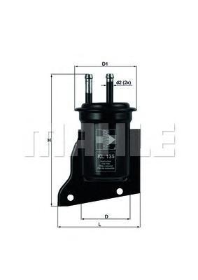 KL135 Фильтр топливный SUBARU JUSTY 1200
