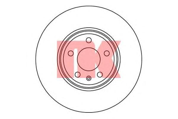 2047132 Диск тормозной передний / AUDI A4, A5 08~