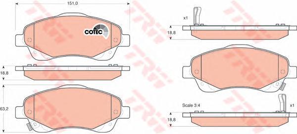 GDB3336 Колодки тормозные TOYOTA AVENSIS 03/COROLLA VERSO 1.8/2.0D/2.2D пер.