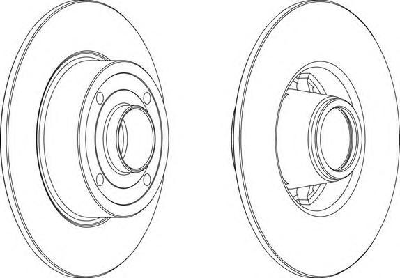 DDF1369 Диск тормозной RENAULT CLIO III 05-/MEGANE II 02- задний без подшипника