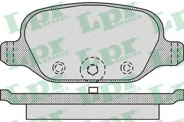 05P872 Колодки тормозные FIAT 500 07-/PANDA 03- задние