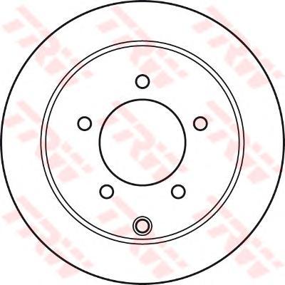 DF4973 Диск тормозной MITSUBISHI LANCER 08- задний D=262мм.