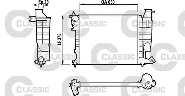 232535 Радиатор системы охлаждения CITROEN: XSARA (N1) 1.4 i/1.6 i/1.8 i/1.8 i 16V 97 - 05 , XSARA Break (N2) 1.4 i/1.6 i/1.8 i/