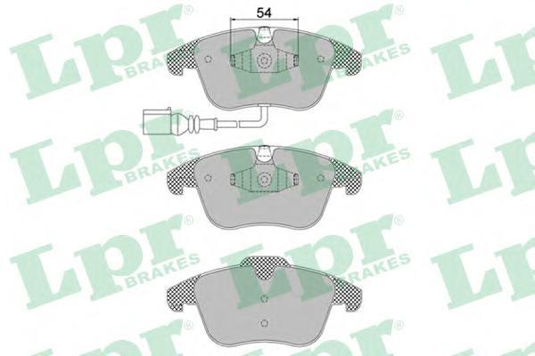 05P1392 Колодки тормозные AUDI Q3 11-/VW SHARAN 10-/TIGUAN 07- передние