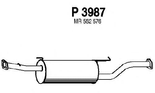 P3987 Резонатор MITSUBISHI PAJERO 2.5 TDI 00-