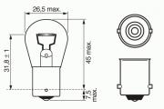 1987302501 Лампа P21W Trucklight 21 W 24 V BA15s