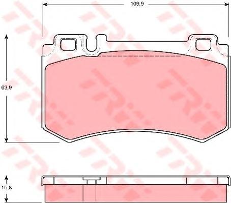 GDB1544 Колодки тормозные MERCEDES W211/209/220/215 AMG 55/63/65 задние