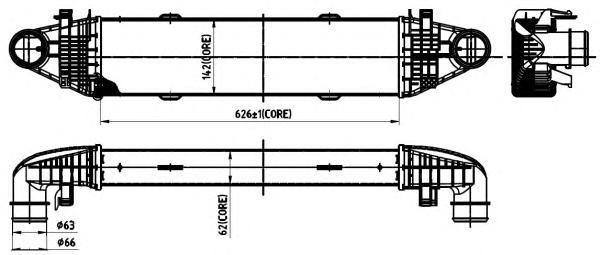 30315 Интеркулер MB W204/X204 250/350CDI