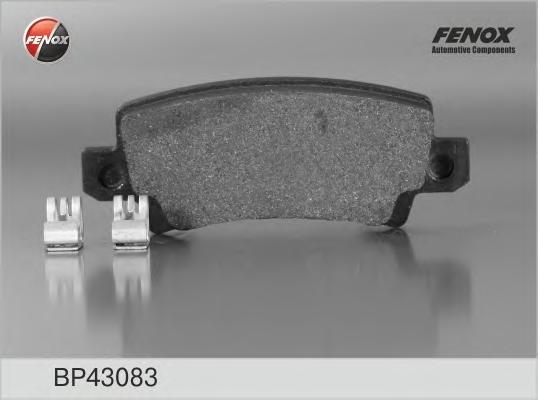 BP43083 Колодки тормозные TOYOTA COROLLA (E12) 0206 с датчиком задние