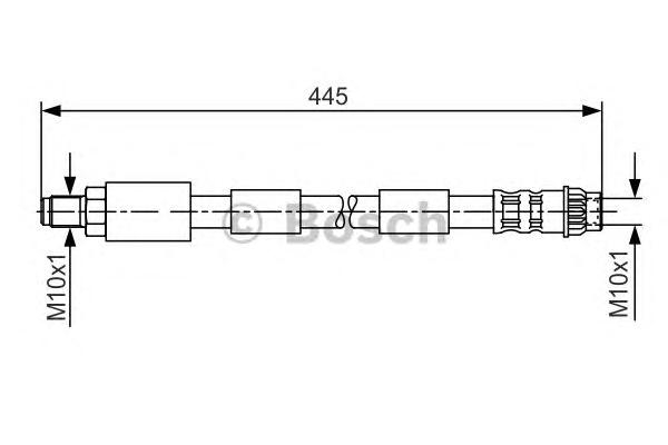 1987476912 Шланг тормозной CITROEN C4/PEUGOET 307 1.4-2.0 00- 445мм задний
