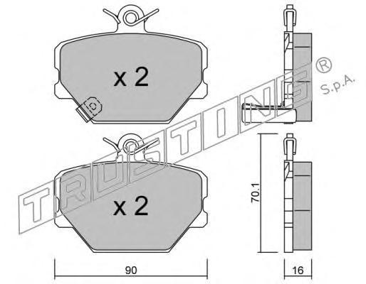 3500 К-т торм. колодок Fr SMART Fortwo, City-Coupe