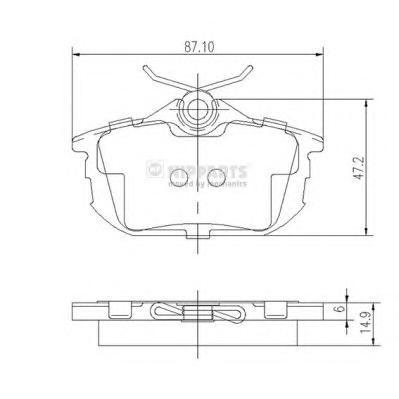 J3615012 Колодки тормозные MITSUBISHI COLT 04/SMART FORFOUR 05/VOLVO S40/V40 задние