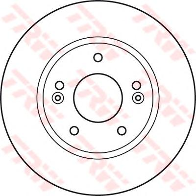 DF4922 Диск тормозной HYUNDAI ELANTRA 1.6 06- передний вент.D=275мм.