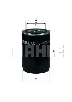 OC613 Фильтр масляный CITROEN/PEUGEOT/FIAT/IVECO 3.0HDI 06-