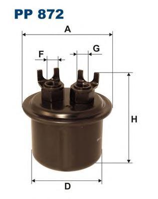 PP872 Фильтр топливный