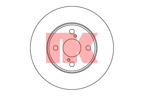 204582 Диск тормозной TOYOTA COROLLA (E12) 06.0402.07 передний вент.