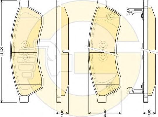 6141729 Колодки тормозные CHEVROLET EPICA 06- задние