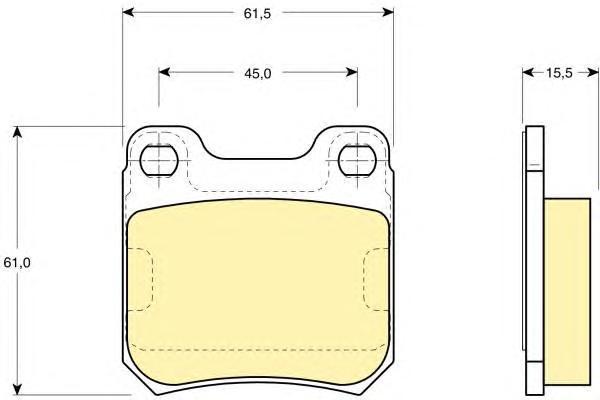 6109152 Колодки тормозные OPEL OMEGA A/B VECTRA B/SAAB 900 93-98/9-3 98-03/9-5 задние