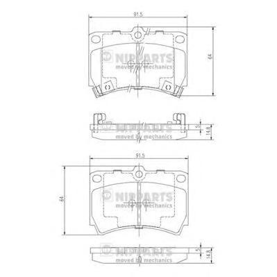 J3603036 Колодки тормозные KIA RIO 0002/MAZDA 121 9096/323 90/96 передние