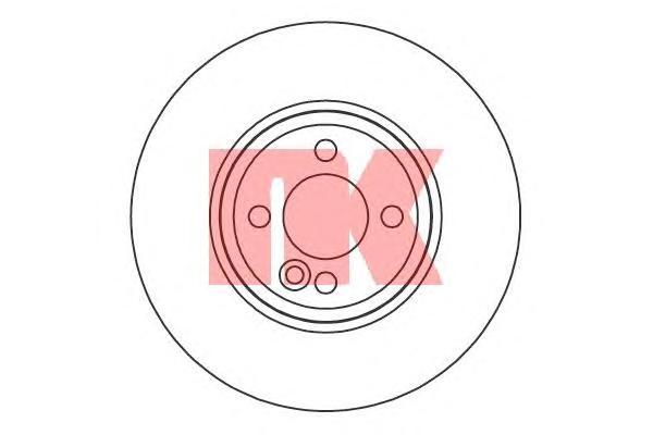 204038 Диск тормозной MINI COOPER 06- передний (спорт.пакет) D=294мм.