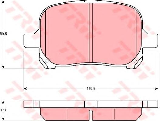 GDB3152 Колодки тормозные TOYOTA CAMRY/PREVIA 2.2-3.0 96-/LEXUS RX300 00-03 передние
