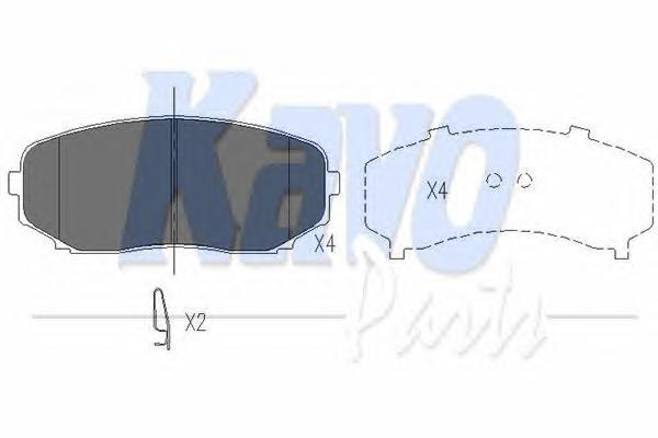 KBP4558 Колодки тормозные MAZDA CX-7/CX-9 07- передние