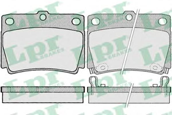 05P1029 Колодки тормозные MITSUBISHI PAJERO SPORT/MONTERO SPORT 9809 2.5D/3.0 задние