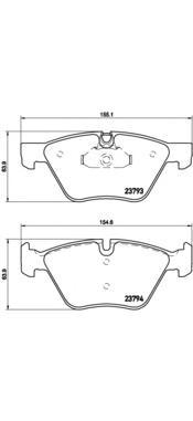 P06057 Колодки тормозные BMW E90/E60 1.8-3.0 03- передние