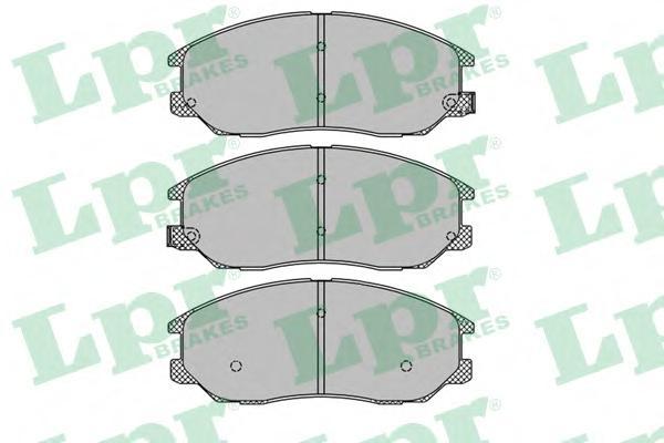 05P1448 Колодки тормозные HYUNDAI TERRACAN 01-/KIA OPIRUS 03- передние
