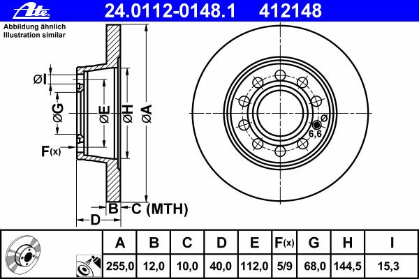 24011201481 Диск тормозной задн, AUDI: A4 1.6/1.8 T/1.8 T quattro/1.9 TDI/1.9 TDI quattro/2.0/2.0 FSI/2.4/2.5 TDI/2.5 TDI quattr