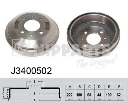 J3400502 Барабан тормозной HYUNDAI ACCENT 03- (ТАГАЗ)