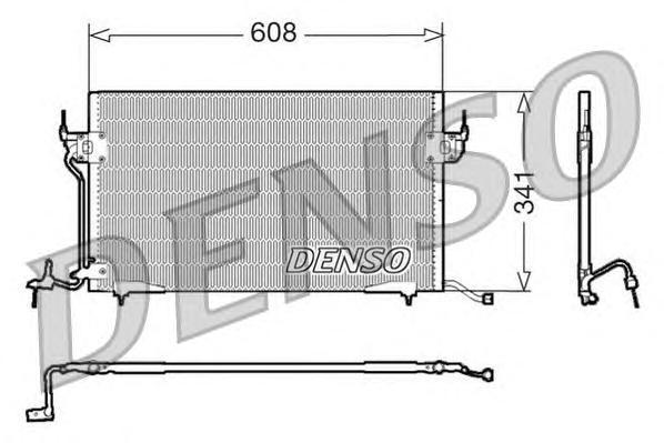 dcn21010 Радиатор кондиционера CITROEN: BERLINGO (MF) 1.1 i (MFHDZ)/1.4 i (MFKFX) 96 - , XSARA (N1) 1.4 i/1.6 i/1.8 i/1.8 i 16V/