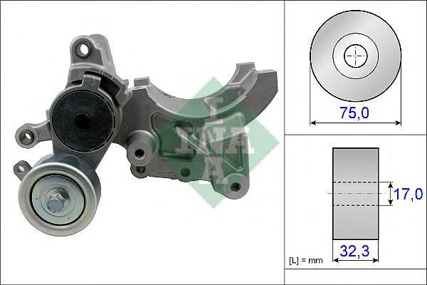 534045210 Ролик приводного ремня Toyota Land Cruiser 3.0 D-4D 03