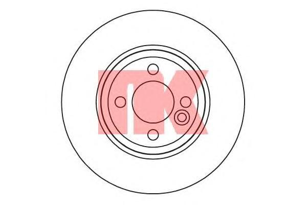 204034 Диск тормозной MINI COOPER/ONE/CLUBMAN 1.4-2.0 09- передний вент.D=280мм.