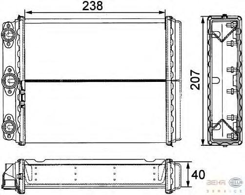 8FH351311611 Радиатор печки MERCEDES W124