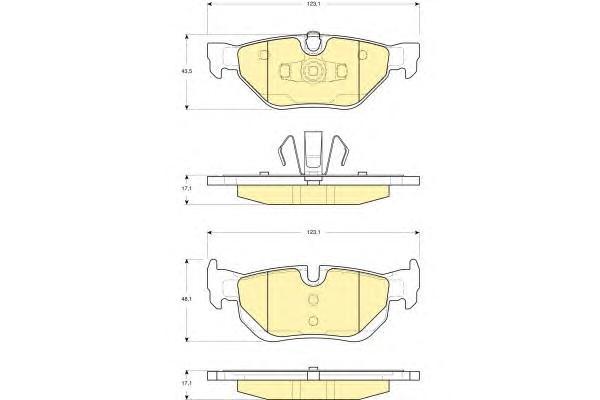 6116262 Колодки тормозные BMW E81/E87/E90/E91/E84 X1 задние