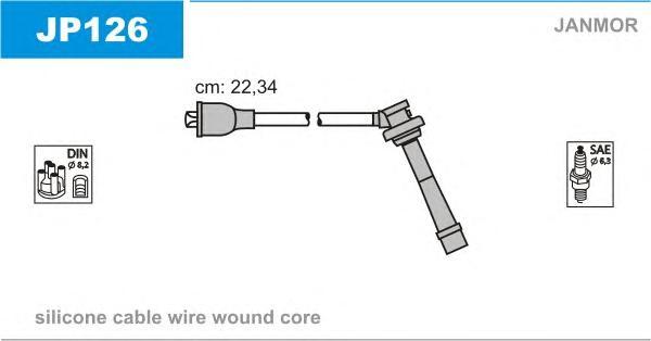 JP126 Комплект проводов зажигания SUZUKI: BALENO 95-02, JIMNY 98-