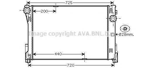 MSA2474 Радиатор MB W204/W212 1.6-3.5/2.0D-2.5D M/T 07-