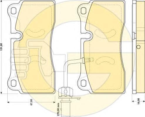 6117319 Колодки тормозные AUDI R8 4.2-5.2 07- задние