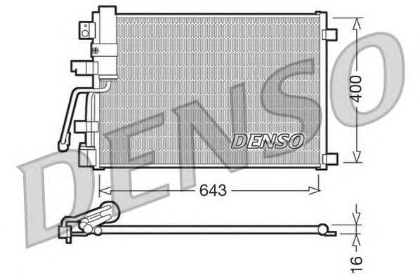 DCN46003 Радиатор кондиционера NISSAN: QASHQAI (J10, JJ10) 2.0 DCI/2.0 DCI ПРИВОД НА ВСЕ КОЛЕСА 07 -
