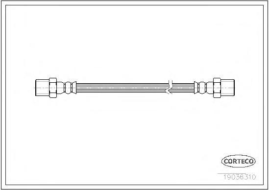 19036310 Шланг тормозной BMW: 5 520 d/520 i/523 i/525 d/525 i/525 td/525 tds/528 i/530 d/530 i/535 i/540 i/M 4.9 95-03, 5 Tourin