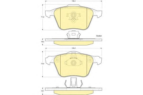6115762 Колодки тормозные VOLVO S60/V70/S80/XC70/XC90 98- передние