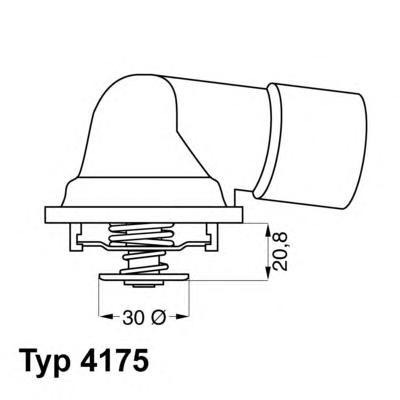 417592D Термостат (в корпусе) OPEL: CALIBRA A 90-97, OMEGA B 94-03, SINTRA 96-99, VECTRA A 88-95, VECTRA B 95-02  SAAB: 900 II 9