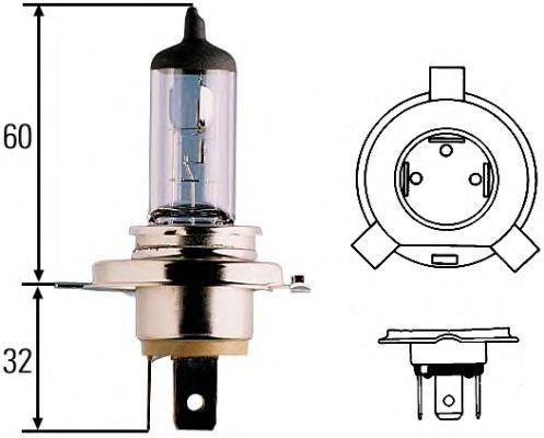 1987302441 Лампа H4 Trucklight 75/70 W 24 V P43t