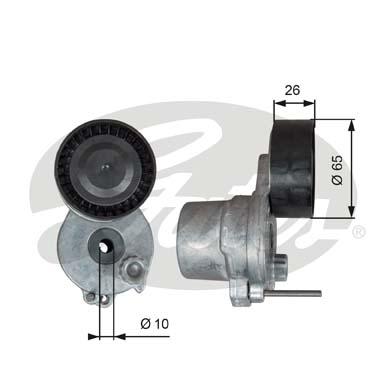 T39338 Натяжитель ремня приводного MB W204/205/212 1.6/2.0